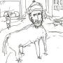 Lars Vilks cartoon