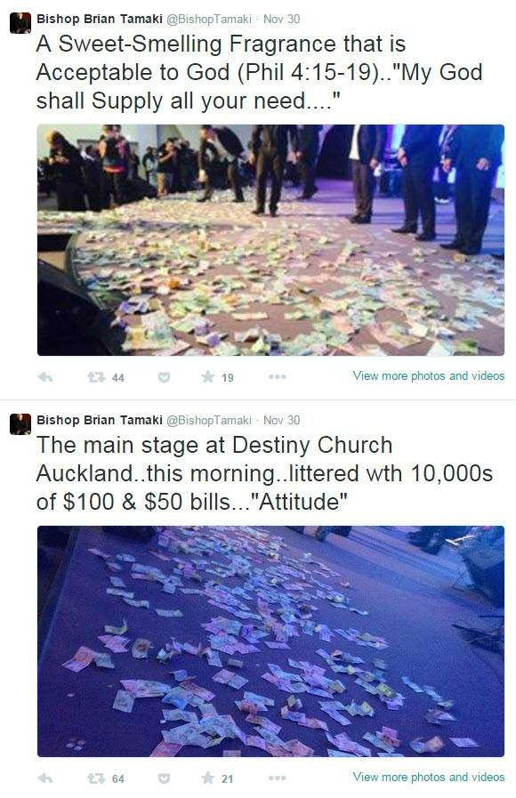 Destiny Church raking in cash