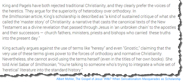 Albert Mohler on Karen L. King