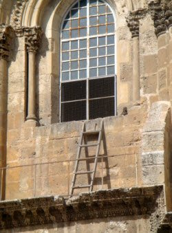 Ladder at the Church of the Holy Sepulcher