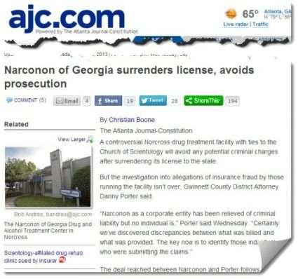 Narconon of Georgia loses license