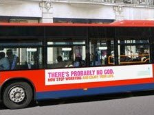 Atheists advertise on London buses