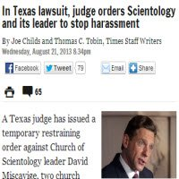 Restraining order against Church of Scientology