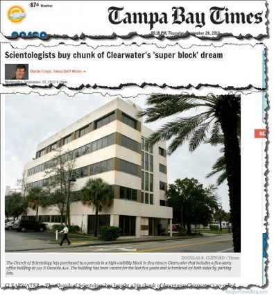 Scientology buys property in Clearwater, Florida