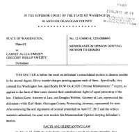 Swezey motion denied