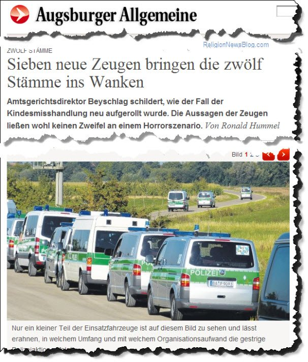 The Augsburger Allgemeine says the testimony of seven witnesses leaves no doubt about a 'horror scenario' within the group.