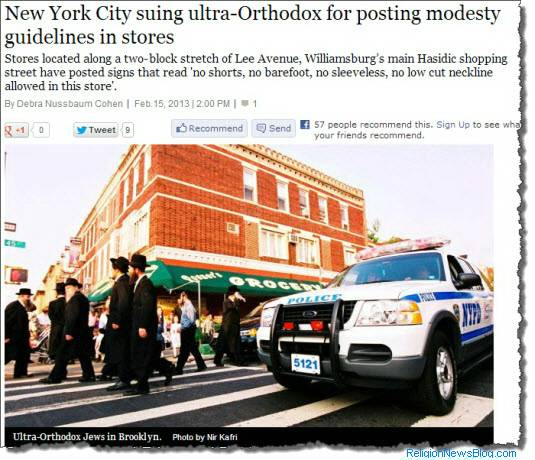 Ultra-Orthodox sued for modesty guidelines in stores